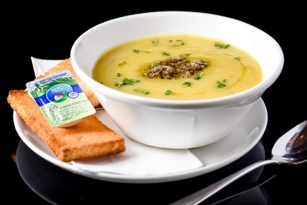 מרק היום - מרק דלעת, מרק מתחלף מדי יום בהתאם להחלטת השף.