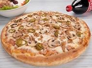 פיצה משפחתית + 2 תוספות + שתיה גדולה פיצה טורינו חיפה