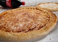 פיצה משפחתית + לחם שום קטן + שתיה 1.5 ליטר מאנצ' פיצה קרית חיים