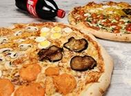 2 פיצות משפחתיות + שתייה 1.5 ליטר פיצה רום צורן