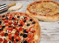 2 מגשי פיצה בינונית L פיצה רומא רוטשילד ראשון לציון