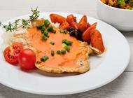 חזה עוף ברוטב עגבניות טריות ונענע דליקטבע רמת גן - 100 אחוז בריאות - כשר