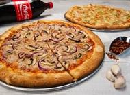 2 פיצות משפחתיות טבעוניות + שתיה 1.5 ליטר פיצה פרנקל תל אביב