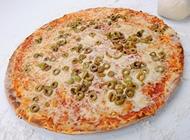פיצה זיתים ירוקים גדולה