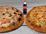 מבצע 2 מגשי פיצה L משפחתיים + לחם שום משפחתי + שתייה 1.5 ליטר פיצה בריבוע נתניה מרכז