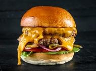 ארוחת צ'יזבורגר 110 גרם (גבינת צ'דר טבעונית) קפטן בורגר ירושלים
