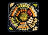 מגש (70%) דגים ו-(30%) צמחוני – 98 יחידות סושי בר בזל רמת השרון