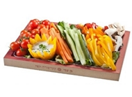 מגש ירקות צבעוני בן עמי ירושלים - מגשי אירוח