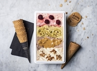 """גלידה במשקל 1 ק""""ג גלידה גולדה חיפה"""