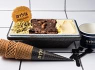 """גלידה במשקל חצי ק""""ג גולדה קריון"""