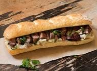 כריך סטייק סינטה מחדר היישון שלנו מסעדת הבשר NG נווה צדק תל אביב