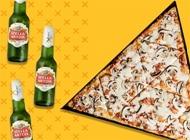 מגש פיצה גדול + 3 בירות הפיצריה בת ים