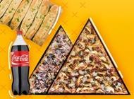 2 מגשי פיצה גדולים + תוספת לכל מגש + לחם שום + שתייה הפיצריה בת ים