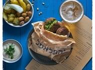 קציצת פלאפל ירוק חומוס כספי תל אביב שוק צפון